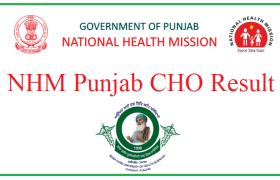 punjab nhm result of community health officer