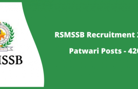 rsmssb recruitment 2020 of patwari