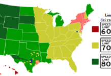 I limiti di velocita negli Stati Uniti d'America
