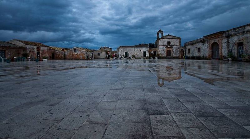 La piazza a Marzamemi