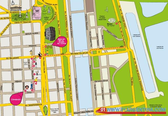Ride cartoon map