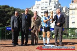 Maradona sculpture