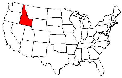 Image result for idaho highlighted on a map