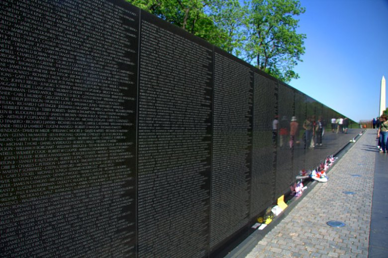 Image result for vietnam war memorial DC