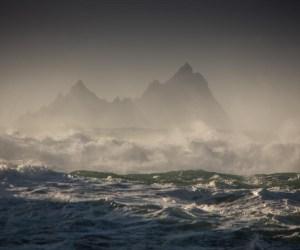 Skellig islands storm
