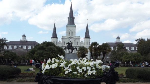 View of Jackson Square and St. Louis Cathedral.