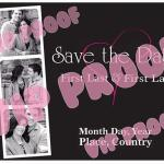 Vertical Heart Save the Date