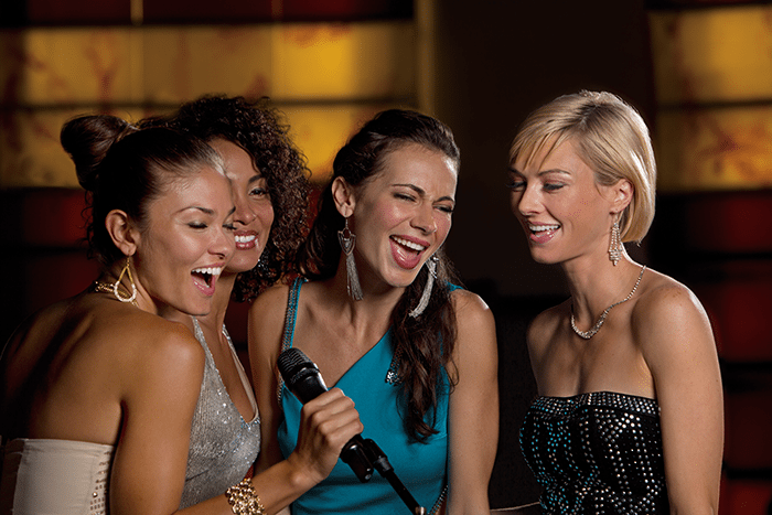 Sing karaoke to the latest hits.