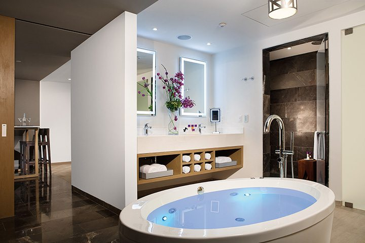xhale club Master Suite bathroom.