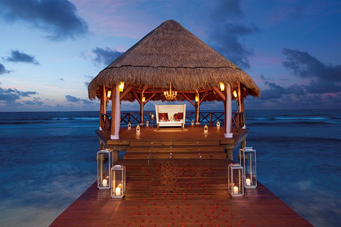 Couples can enjoy a private, romantic dinner on the beach or pier.