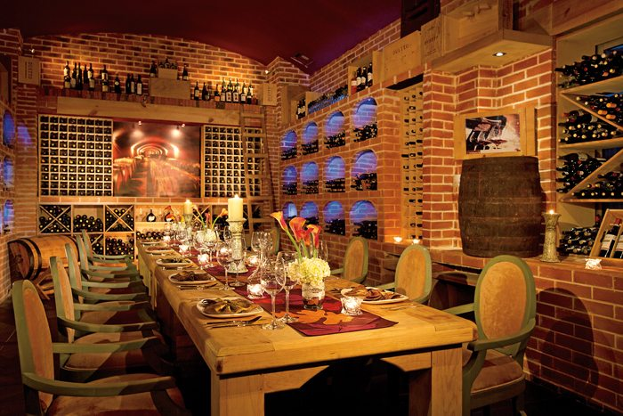 The Wine Cellar provides the perfect ambiance for gourmet dining paired with delicious wines.