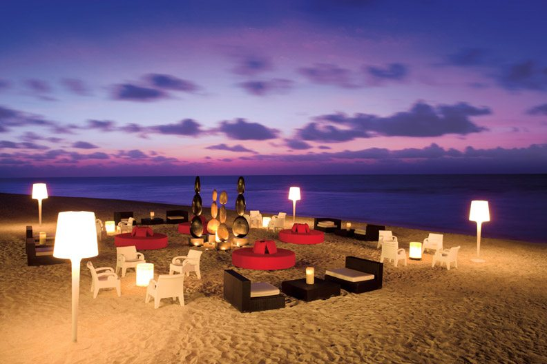 Take in the sound of the ocean waves while enjoying a cocktail at your own private lounge party.