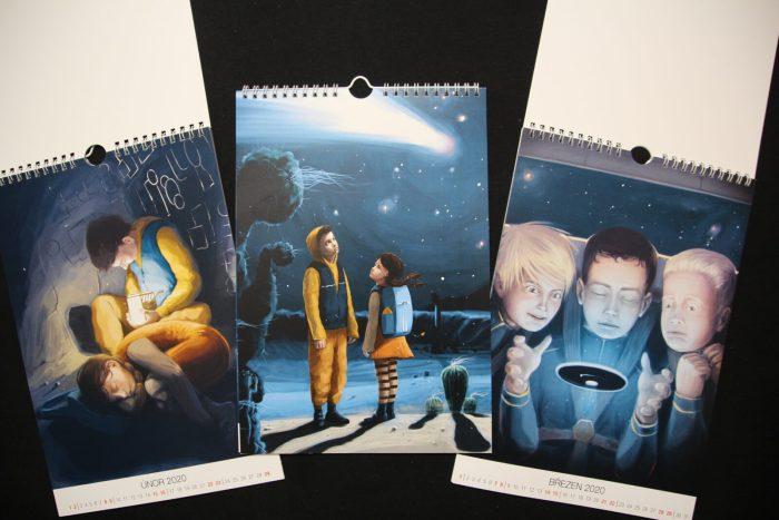 Kalendář pro děti - Písečníci a bludný asteroid
