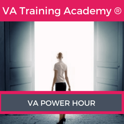 """Have you ever wished you could have an hour with a multi-award winning VA Trainer, where the focus is purely on you and your business. Well, I am often asked """"Can I just ask you a quick question about…"""" or """"Would it be possible to pick your brain?"""" So I have introduced a fantastic """"VA Power Hour"""""""