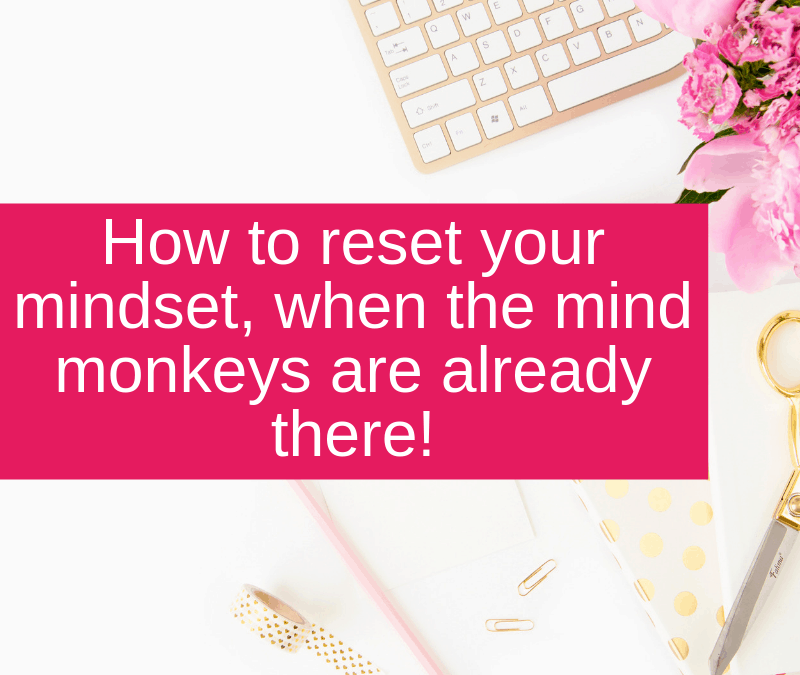 How to reset your mindset, when the mind monkeys are already there