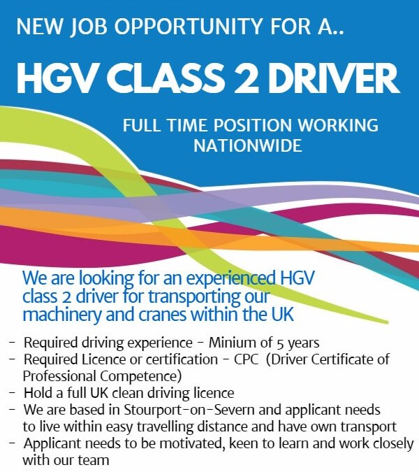 New Job Opportunity – HGV Class 2 Driver