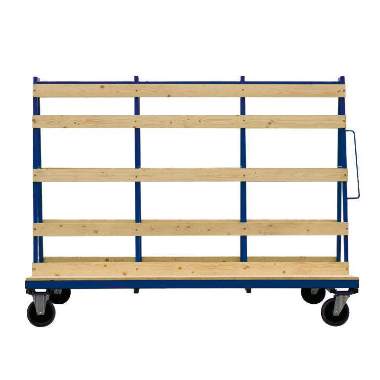 large-a-frame glass trolley