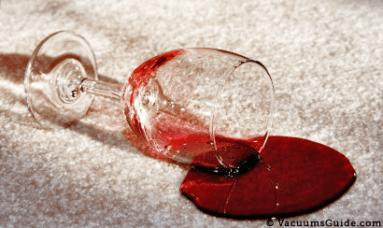 Wine carpet stain