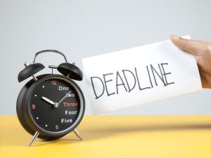 Set a deadline