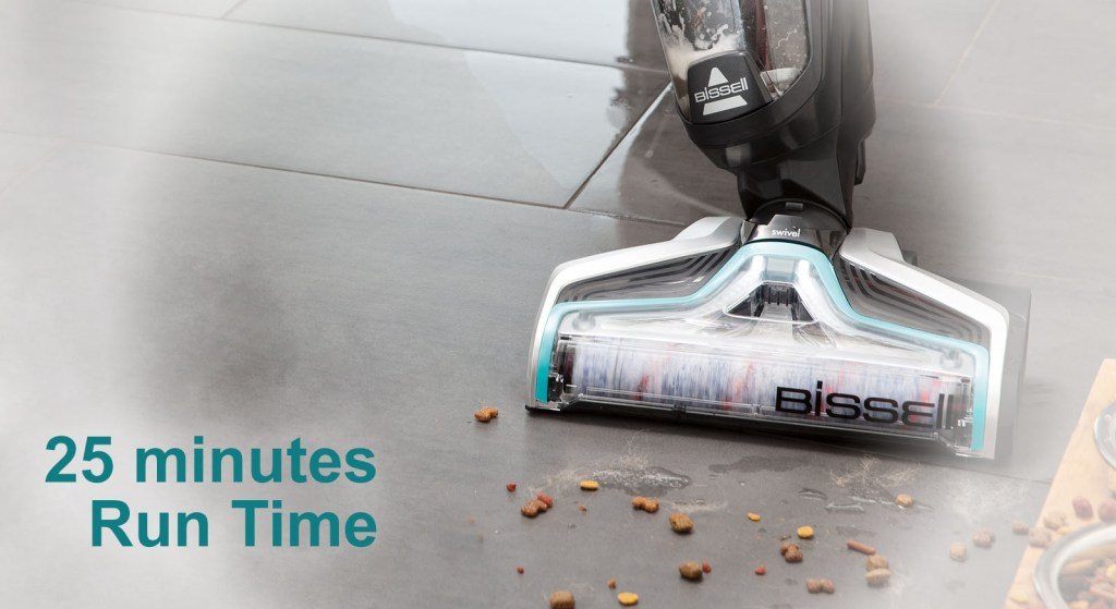 Bissell CrossWave Cordless run time