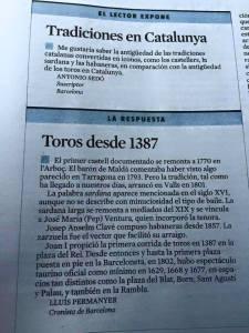 Edició impresa de La Vanguardia. 1 de maig de 2015.