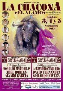 Cartell on està anunciat el torero d'Olot, Abel Robles.