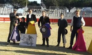 Solera, Andreu i de Reyes, desprès de la seva actuació al Bolsín de Fos sur Mer