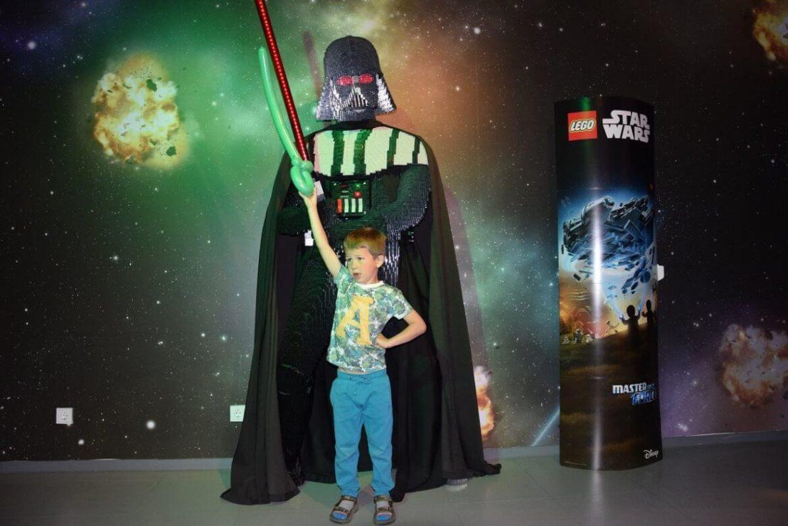 Darth vader van Lego