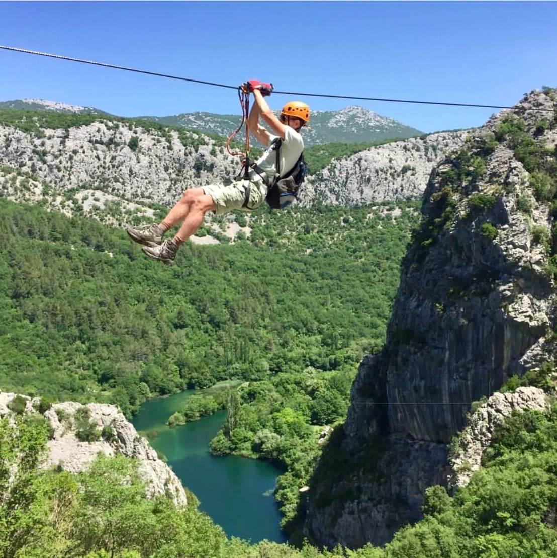 Zipline Omis Kroatië