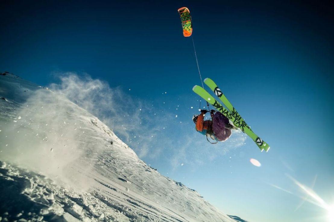 Snowkite in Geilo Noorwegen