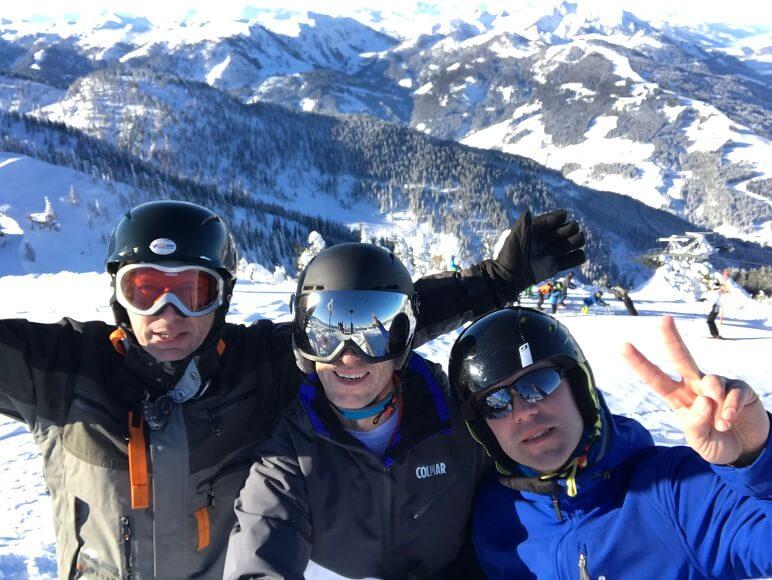 Mannen aan de top in Flachau