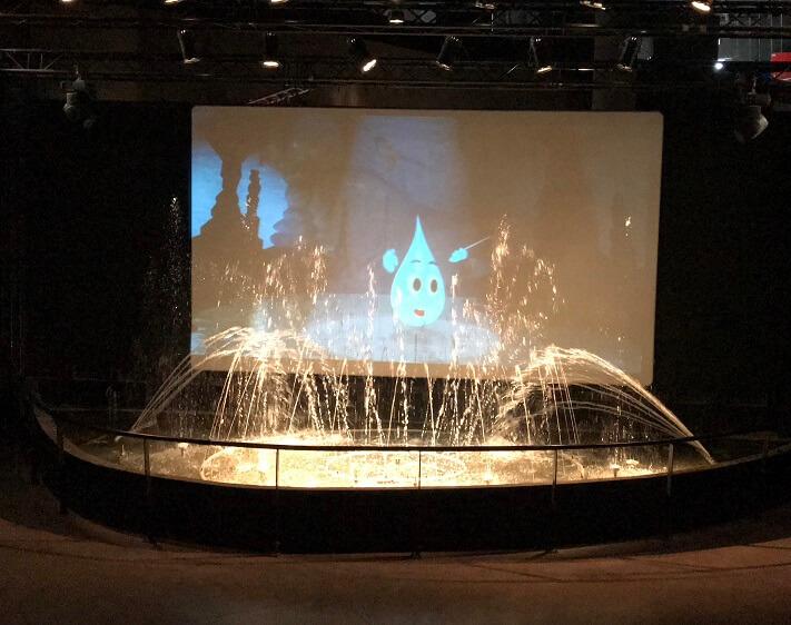 De aquamusicale voorstelling in Source O Rama