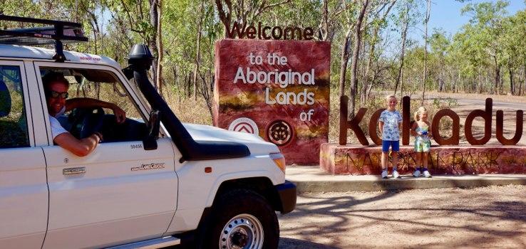 Bij de ingang van Kakadu National Park