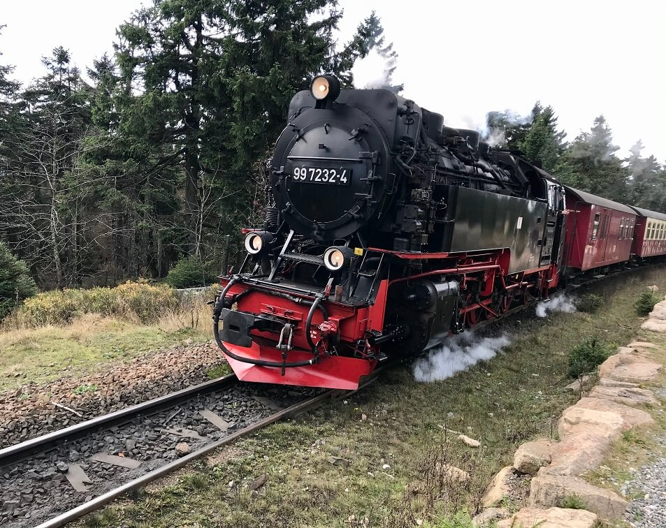 Stoomtrein in de Harz