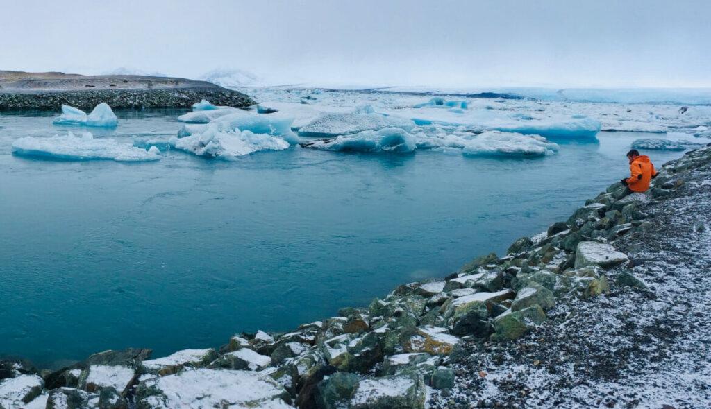 Vatnajökull gletsjer - drijvende ijsblokken