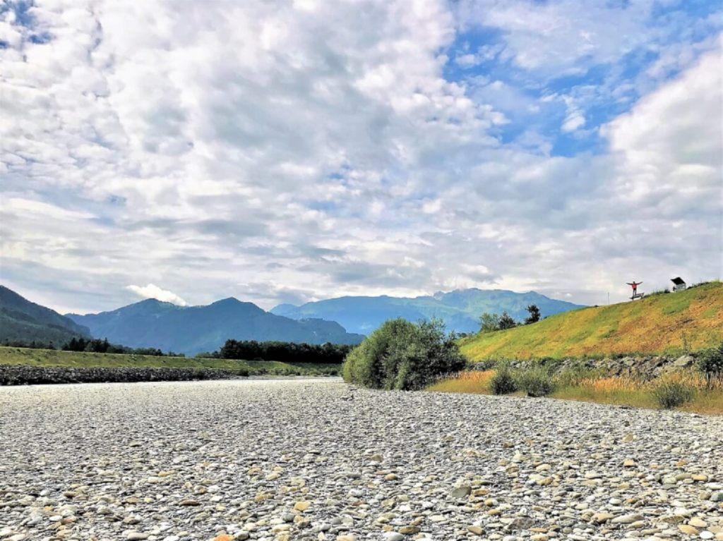 Kiezelbank in de rijn, Rhein-Route