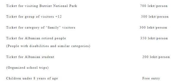 Prezzi ingresso Parco Archeologico Butrinti, cosa fare e cosa vedere a Saranda