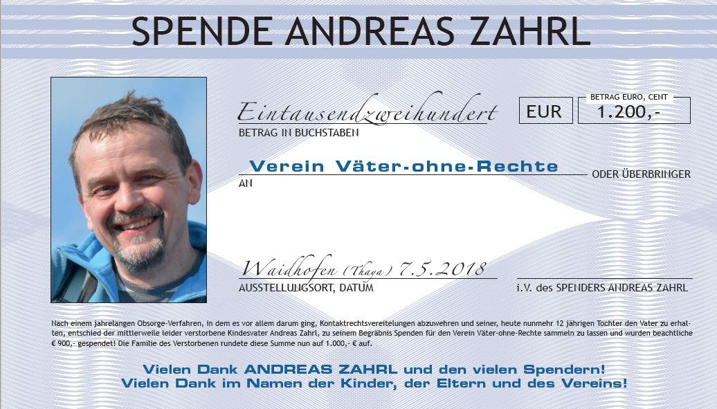 Andreas Zahrl, geb. 25.04.1967 - † 08.04.2018