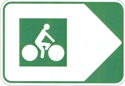 panneau velo route