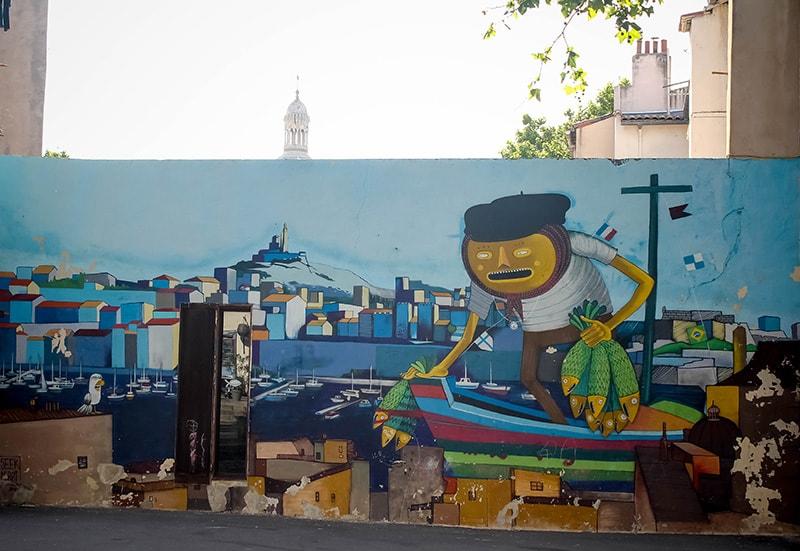 art urbain fresque Marseille
