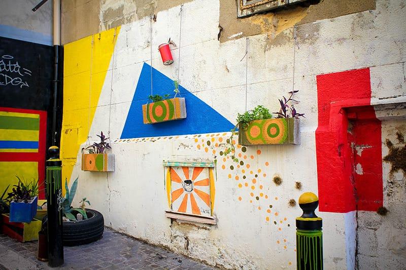 Street art mur panier Marseille
