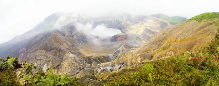 Panorama über dem Vulkan Poas