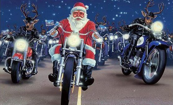 merry christmas bikers