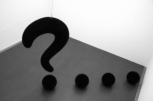 Question Mark Sculpture