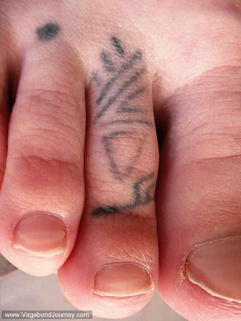 My foot tattoos. These should be save for another story.