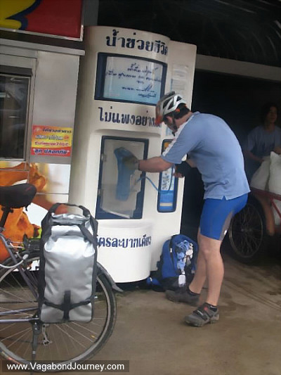 water machine on street of thailand