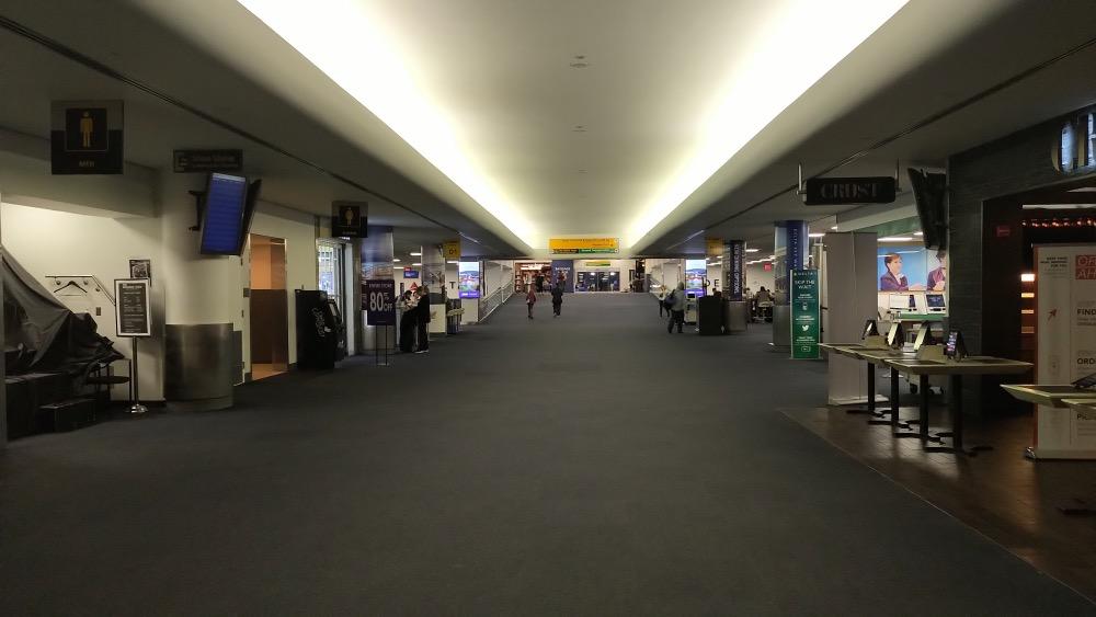 Empty Laguardia airport
