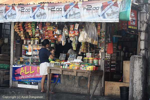 Cigarette stand in the Philippines
