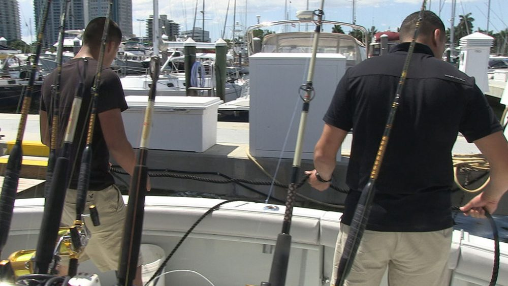 Miami deep sea fishing boat