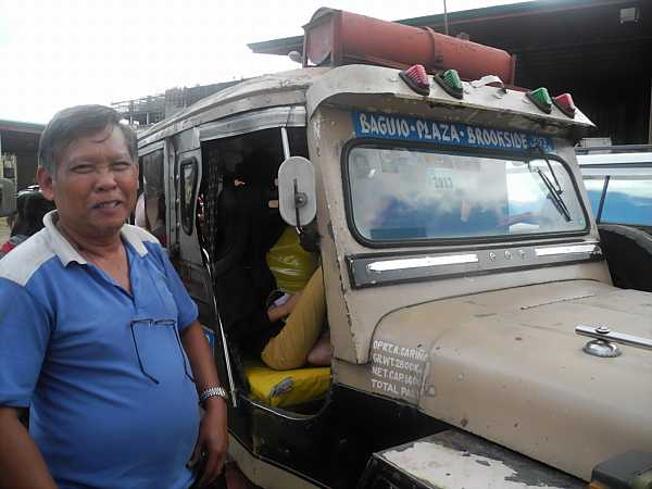 Philippines Jeepney with driver